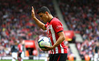 SOUTHAMPTON, ENGLAND - AUGUST 12: Mohamed Elyounoussi of Southampton FC  goes to take a corner during the Premier League match between Southampton FC and Burnley FC at St Mary's Stadium on August 12, 2018 in Southampton, United Kingdom. (Photo by James Bridle - Southampton FC/Southampton FC via Getty Images)