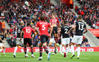 SOUTHAMPTON, ENGLAND - AUGUST 12: Jannik Vestergaard of Southampton during the Premier League match between Southampton FC and Burnley FC at St Mary's Stadium on August 12, 2018 in Southampton, United Kingdom. (Photo by Matt Watson/Southampton FC via Getty Images)