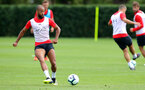 SOUTHAMPTON, ENGLAND - AUGUST 14: Nathan Redmond during a Southampton FC training session at the Staplewood Campus on August 14, 2018 in Southampton, England. (Photo by Matt Watson/Southampton FC via Getty Images)