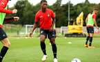 SOUTHAMPTON, ENGLAND - AUGUST 15:  Siph Mdlalose (Middle) pictured during a U23s training session at Staplewood Complex on August 15, 2018 in Southampton, England. (Photo by James Bridle - Southampton FC/Southampton FC via Getty Images)