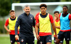 SOUTHAMPTON, ENGLAND - AUGUST 15:  Kelvin Davis, Christian Norton pictured at Staplewood Complex on August 15, 2018 in Southampton, England. (Photo by James Bridle - Southampton FC/Southampton FC via Getty Images)