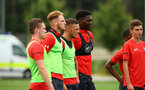 SOUTHAMPTON, ENGLAND - AUGUST 15:  LtoR Ben Rowthorn, Jamie Bradley Green, Harry Hamblin, Allan Tchaptchet pictured at Staplewood Complex on August 15, 2018 in Southampton, England. (Photo by James Bridle - Southampton FC/Southampton FC via Getty Images)