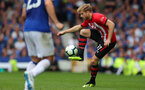 LIVERPOOL, ENGLAND - AUGUST 18: Stuart Armstrong of Southampton during the Premier League match between Everton FC and Southampton FC at Goodison Park on August 18, 2018 in Liverpool, United Kingdom. (Photo by Matt Watson/Southampton FC via Getty Images)