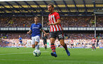 LIVERPOOL, ENGLAND - AUGUST 18: Manolo Gabbiadini of Southampton during the Premier League match between Everton FC and Southampton FC at Goodison Park on August 18, 2018 in Liverpool, United Kingdom. (Photo by Matt Watson/Southampton FC via Getty Images)