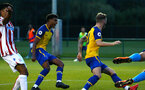 LONDON, ENGLAND - AUGUST 20: Marcus Barnes, Callum Slattery celebrate after Southampton FC score during an U23 Pl2 match between Southampton FC and Stoke City Clayton Training Ground on August 20, 2018 in London, England. (Photo by James Bridle - Southampton FC/Southampton FC via Getty Images)