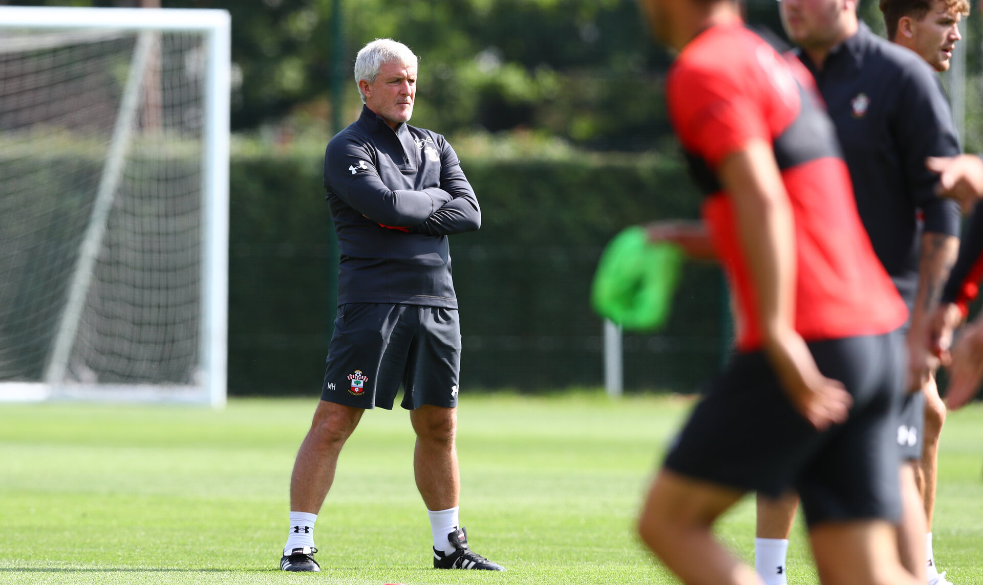 SOUTHAMPTON, ENGLAND - AUGUST 23: Mark Hughes during a Southampton FC training session at the Staplewood Campus on August 23, 2018 in Southampton, England. (Photo by Matt Watson/Southampton FC via Getty Images)