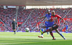 SOUTHAMPTON, ENGLAND - AUGUST 25: Nathan Redmond(R) of Southampton during the Premier League match between Southampton FC and Leicester City at St Mary's Stadium on August 25, 2018 in Southampton, United Kingdom. (Photo by Matt Watson/Southampton FC via Getty Images)