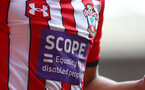 SOUTHAMPTON, ENGLAND - AUGUST 25: Scope on the front of Southampton shirts during the Premier League match between Southampton FC and Leicester City at St Mary's Stadium on August 25, 2018 in Southampton, United Kingdom. (Photo by Matt Watson/Southampton FC via Getty Images)