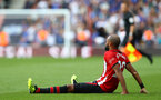 SOUTHAMPTON, ENGLAND - AUGUST 25: Nathan Redmond of Southampton during the Premier League match between Southampton FC and Leicester City at St Mary's Stadium on August 25, 2018 in Southampton, United Kingdom. (Photo by Matt Watson/Southampton FC via Getty Images)