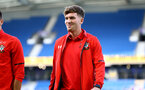 BRIGHTON, ENGLAND - AUGUST 28: Sam Gallagher (middle) of Southampton FC ahead of the Carabao Cup Second Round match between Brighton & Hove Albion and Southampton at American Express Community Stadium on August 28, 2018 in Brighton, England. (Photo by James Bridle - Southampton FC/Southampton FC via Getty Images)