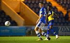 COLCHESTER, ENGLAND - SEPTEMBER 04: Nathan Tella (right) during the Check a Trade Cup match between Colchester United vs Southampton FC at Jobserve Community Stadium on September 04, 2018 in Colchester, England. (Photo by James Bridle - Southampton FC/Southampton FC via Getty Images)