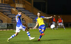 COLCHESTER, ENGLAND - SEPTEMBER 04: Callum Slattery (middle) during the Check a Trade Cup match between Colchester United vs Southampton FC at Jobserve Community Stadium on September 04, 2018 in Colchester, England. (Photo by James Bridle - Southampton FC/Southampton FC via Getty Images)