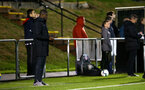 NEWCASTLE, ENGLAND - SEPTEMBER 14: Radhi Jaidi (left) during the U23's PL2 match between Newcastle United and Southampton FC pictured at Northumberland County FA ground on September 14, 2018 in Southampton, England. (Photo by James Bridle - Southampton FC/Southampton FC via Getty Images)