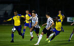 NEWCASTLE, ENGLAND - SEPTEMBER 14: Yan Valery (left) during the U23's PL2 match between Newcastle United and Southampton FC pictured at Northumberland County FA ground on September 14, 2018 in Southampton, England. (Photo by James Bridle - Southampton FC/Southampton FC via Getty Images)