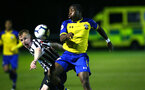 NEWCASTLE, ENGLAND - SEPTEMBER 14: Michael Obafemi (right) during the U23's PL2 match between Newcastle United and Southampton FC pictured at Northumberland County FA ground on September 14, 2018 in Southampton, England. (Photo by James Bridle - Southampton FC/Southampton FC via Getty Images)