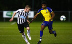 NEWCASTLE, ENGLAND - SEPTEMBER 14: Marcus Barnes (right) during the U23's PL2 match between Newcastle United and Southampton FC pictured at Northumberland County FA ground on September 14, 2018 in Southampton, England. (Photo by James Bridle - Southampton FC/Southampton FC via Getty Images)