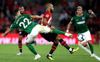 SOUTHAMPTON, ENGLAND - SEPTEMBER 17:  Nathan Redmond of Southampton is challenged by Martin Montoya of Brighton and Hove Albion during the Premier League match between Southampton FC and Brighton & Hove Albion at St Mary's Stadium on September 17, 2018 in Southampton, United Kingdom.  (Photo by Southampton FC/Southampton FC via Getty Images) *** Local Caption *** Martin Montoya, Nathan Redmond SOUTHAMPTON, ENGLAND - SEPTEMBER 17:  Nathan Redmond of Southampton is challenged by Martin Montoya of Brighton and Hove Albion during the Premier League match between Southampton FC and Brighton & Hove Albion at St Mary's Stadium on September 17, 2018 in Southampton, United Kingdom.  (Photo by Southampton FC/Southampton FC via Getty Images)