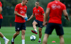 SOUTHAMPTON, ENGLAND - SEPTEMBER 20: Oriol Romeu during a Southampton FC training session at Staplewood Complex on September 20, 2018 in Southampton, England. (Photo by Matt Watson/Southampton FC via Getty Images)
