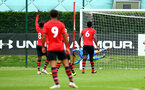 SOUTHAMPTON, ENGLAND - SEPTEMBER 22: Southampton FC  Jack Bycroft makes a save during the U18 Premier League match between Southampton FC and Brighton Hove Albion at Staplewood Training Ground on September 22, 2018 in Southampton, United Kingdom. (Photo by James Bridle - Southampton FC/Southampton FC via Getty Images)
