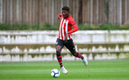 SOUTHAMPTON, ENGLAND - SEPTEMBER 22: Alex Jankewitz (middle) during the U18 Premier League match between Southampton FC and Brighton Hove Albion at Staplewood Training Ground on September 22, 2018 in Southampton, United Kingdom. (Photo by James Bridle - Southampton FC/Southampton FC via Getty Images)