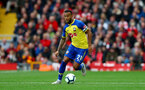 LIVERPOOL, ENGLAND - SEPTEMBER 22: Ryan Bertrand of Southampton during the Premier League match between Liverpool FC and Southampton FC at Anfield on September 22, 2018 in Liverpool, United Kingdom. (Photo by Matt Watson/Southampton FC via Getty Images)
