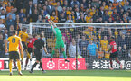 WOLVERHAMPTON, ENGLAND - SEPTEMBER 29: Alex McCarthy of Southampton claims a cross during the Premier League match between Wolverhampton Wanderers and Southampton FC at Molineux on September 29, 2018 in Wolverhampton, United Kingdom. (Photo by Matt Watson/Southampton FC via Getty Images)