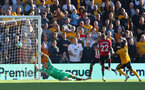 WOLVERHAMPTON, ENGLAND - SEPTEMBER 29: Wolves open the scoring during the Premier League match between Wolverhampton Wanderers and Southampton FC at Molineux on September 29, 2018 in Wolverhampton, United Kingdom. (Photo by Matt Watson/Southampton FC via Getty Images)