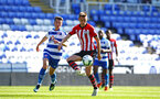 SOUTHAMPTON, ENGLAND - SEPTEMBER 29: Will Smallbone (middle) of Southampton FC during a PL2 U23s match where Reading FC play Southampton FC at Madjeski Stadium on September 29, 2018 in Reading, England. (Photo by James Bridle - Southampton FC/Southampton FC via Getty Images)