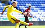 SOUTHAMPTON, ENGLAND - SEPTEMBER 29: Marcus Barnes (right) of Southampton FC during a PL2 U23s match where Reading FC play Southampton FC at Madjeski Stadium on September 29, 2018 in Reading, England. (Photo by James Bridle - Southampton FC/Southampton FC via Getty Images)