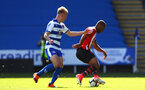 SOUTHAMPTON, ENGLAND - SEPTEMBER 29: Tyreke Johnson (right) during a PL2 U23s match where Reading FC play Southampton FC at Madjeski Stadium on September 29, 2018 in Reading, England. (Photo by James Bridle - Southampton FC/Southampton FC via Getty Images)