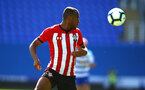 SOUTHAMPTON, ENGLAND - SEPTEMBER 29: Tyreke Johnson (middle) during a PL2 U23s match where Reading FC play Southampton FC at Madjeski Stadium on September 29, 2018 in Reading, England. (Photo by James Bridle - Southampton FC/Southampton FC via Getty Images)