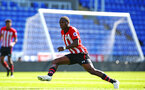 SOUTHAMPTON, ENGLAND - SEPTEMBER 29: Michael Obafemi (middle) during a PL2 U23s match where Reading FC play Southampton FC at Madjeski Stadium on September 29, 2018 in Reading, England. (Photo by James Bridle - Southampton FC/Southampton FC via Getty Images)