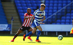 SOUTHAMPTON, ENGLAND - SEPTEMBER 29: Tyreke Johnson (left) during a PL2 U23s match where Reading FC play Southampton FC at Madjeski Stadium on September 29, 2018 in Reading, England. (Photo by James Bridle - Southampton FC/Southampton FC via Getty Images)