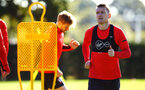SOUTHAMPTON, ENGLAND - OCTOBER 01: Steven Davis (right) during a Southampton FC training session at Staplewood Complex on October 1, 2018 in Southampton, England. (Photo by James Bridle - Southampton FC/Southampton FC via Getty Images)