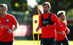 SOUTHAMPTON, ENGLAND - OCTOBER 01: Manolo Gabbiadini (Middle) during a Southampton FC training session at Staplewood Complex on October 1, 2018 in Southampton, England. (Photo by James Bridle - Southampton FC/Southampton FC via Getty Images)