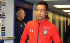 LIVERPOOL, ENGLAND - OCTOBER 02: Maya Yoshida of Southampton ahead of the Carabao Cup Third Round match between Everton and Southampton at Goodison Park on October 2nd, 2018 in Liverpool, England. (Photo by Matt Watson/Southampton FC via Getty Images)