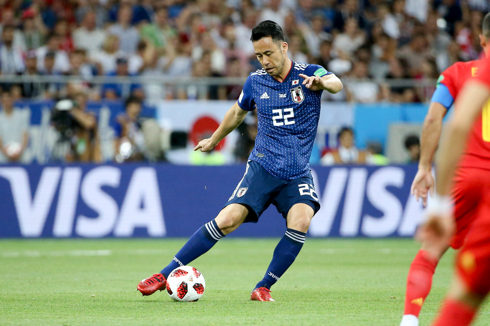 ROSTOV-ON-DON, RUSSIA - JULY 2: Maya Yoshida of Japan during the 2018 FIFA World Cup Russia Round of 16 match between Belgium and Japan at Rostov Arena on July 2, 2018 in Rostov-on-Don, Russia. (Photo by Jean Catuffe/Getty Images)
