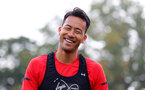 SOUTHAMPTON, ENGLAND - OCTOBER 05: Maya Yoshida smiling during a Southampton FC training session at the Staplewood Campus on October 5, 2018 in Southampton, England. (Photo by Matt Watson/Southampton FC via Getty Images)
