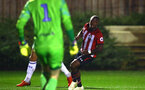 SOUTHAMPTON, ENGLAND - OCTOBER 05: Michael Obafemi (right) during the PL2 match between Southampton FC and Leeds United FC U23s pictured at Staplewood Complex on October 5, 2018 in Southampton, England. (Photo by James Bridle - Southampton FC/Southampton FC via Getty Images)