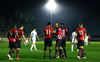 SOUTHAMPTON, ENGLAND - OCTOBER 05: Michael Obafemi scores during the PL2 match between Southampton FC and Leeds United FC U23s pictured at Staplewood Complex on October 5, 2018 in Southampton, England. (Photo by James Bridle - Southampton FC/Southampton FC via Getty Images)