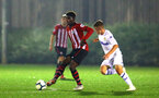 SOUTHAMPTON, ENGLAND - OCTOBER 05: Alex Jankewitz (left) during the PL2 match between Southampton FC and Leeds United FC U23s pictured at Staplewood Complex on October 5, 2018 in Southampton, England. (Photo by James Bridle - Southampton FC/Southampton FC via Getty Images)