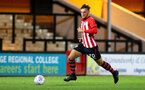 CAMBRIDGE, ENGLAND - OCTOBER 09: Harry Hamblin (middle) during the U21s Checkatade Trophy between Cambridge United and Southampton FC pictured at Abbey Stadium on October 9, 2018 in Cambridge, England. (Photo by James Bridle - Southampton FC/Southampton FC via Getty Images)