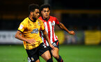 CAMBRIDGE, ENGLAND - OCTOBER 09: Christian Norton (right) during the U21s Checkatade Trophy between Cambridge United and Southampton FC pictured at Abbey Stadium on October 9, 2018 in Cambridge, England. (Photo by James Bridle - Southampton FC/Southampton FC via Getty Images)