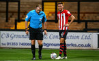 CAMBRIDGE, ENGLAND - OCTOBER 09: Will Smallbone (right) of Southampton FC takes a freekick during the U21s Checkatade Trophy between Cambridge United and Southampton FC pictured at Abbey Stadium on October 9, 2018 in Cambridge, England. (Photo by James Bridle - Southampton FC/Southampton FC via Getty Images)