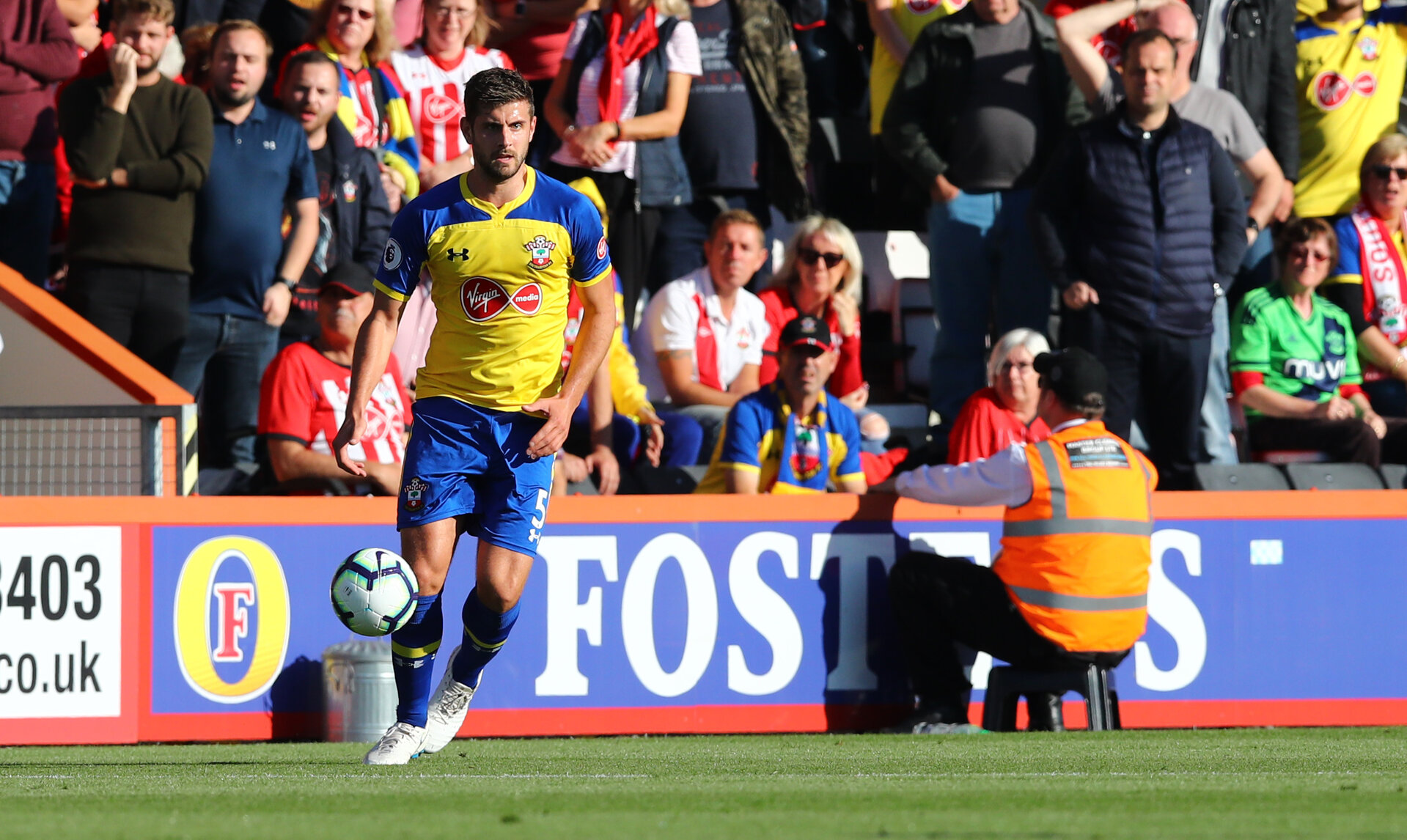 BOURNEMOUTH, ENGLAND - OCTOBER 20: Jack Stephens of Southampton during the Premier League match between AFC Bournemouth and Southampton FC at Vitality Stadium on October 20, 2018 in Bournemouth, United Kingdom. (Photo by Matt Watson/Southampton FC via Getty Images)