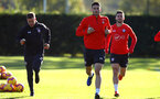 SOUTHAMPTON, ENGLAND - OCTOBER 22: Wesley Hoedt (middle) during a Southampton FC training session at Staplewood Complex on October 22, 2018 in Southampton, England. (Photo by James Bridle - Southampton FC/Southampton FC via Getty Images)