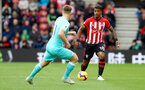 SOUTHAMPTON, ENGLAND - OCTOBER 27: Mario Lemina of Southampton during the Premier League match between Southampton FC and Newcastle United at St Mary's Stadium on October 27, 2018 in Southampton, United Kingdom. (Photo by Matt Watson/Southampton FC via Getty Images)