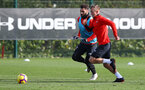 SOUTHAMPTON, ENGLAND - OCTOBER 30: James Ward-Prowse(L) and Charlie Austin during a Southampton FC training session at the Staplewood Campus on October 30, 2018 in Southampton, England. (Photo by Matt Watson/Southampton FC via Getty Images)