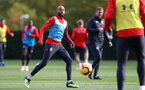 SOUTHAMPTON, ENGLAND - NOVEMBER 02: Nathan Redmond during a Southampton FC training session at the Staplewood Campus on November 2, 2018 in Southampton, England. (Photo by Matt Watson/Southampton FC via Getty Images)