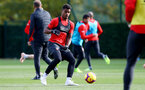 SOUTHAMPTON, ENGLAND - NOVEMBER 02: Mario Lemina during a Southampton FC training session at the Staplewood Campus on November 2, 2018 in Southampton, England. (Photo by Matt Watson/Southampton FC via Getty Images)